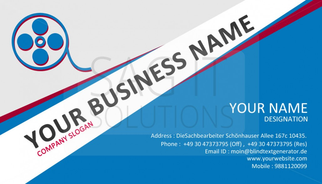 Visiting Card Designing  Sag It Solutions